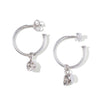 The Silver Dancing Skull Hoops (Pair)-Earrings-Black Betty Design