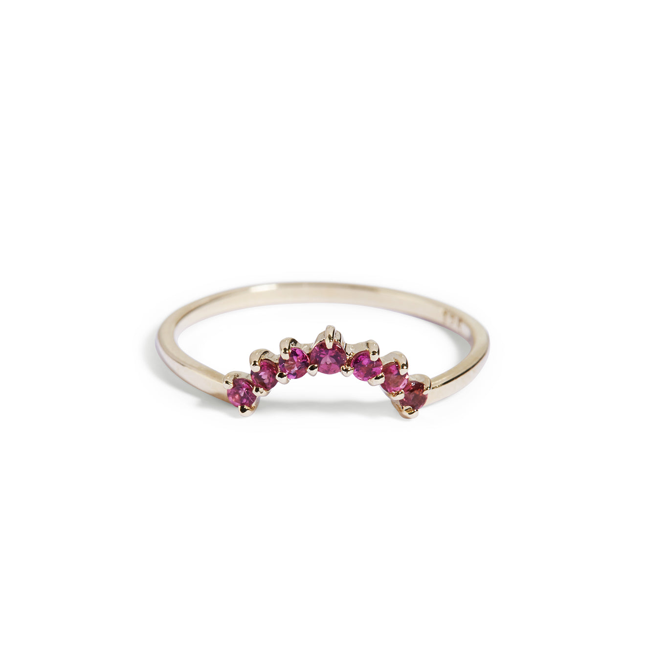 The Pink Tourmaline Halo Ring in 9kt Yellow Gold