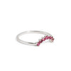 The Ruby Halo Ring in Silver-Ring-Black Betty Design