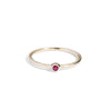 The Mini Ruby Stacker in 9kt Gold-Ring-Black Betty Design