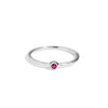 The Mini Ruby Stacker in Silver-Ring-Black Betty Design