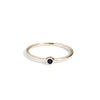 The Mini Spinel Stacker in 9kt Gold-Ring-Black Betty Design