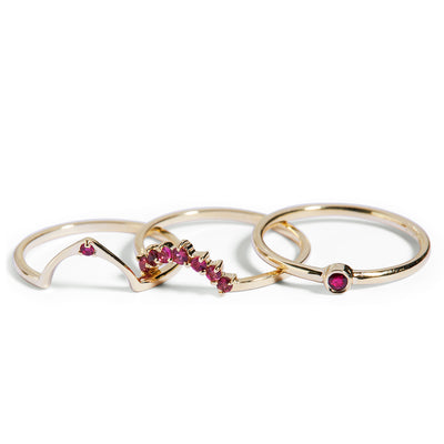 The Pink Tourmaline Halo Ring in 9kt Yellow Gold-Ring-Black Betty Design