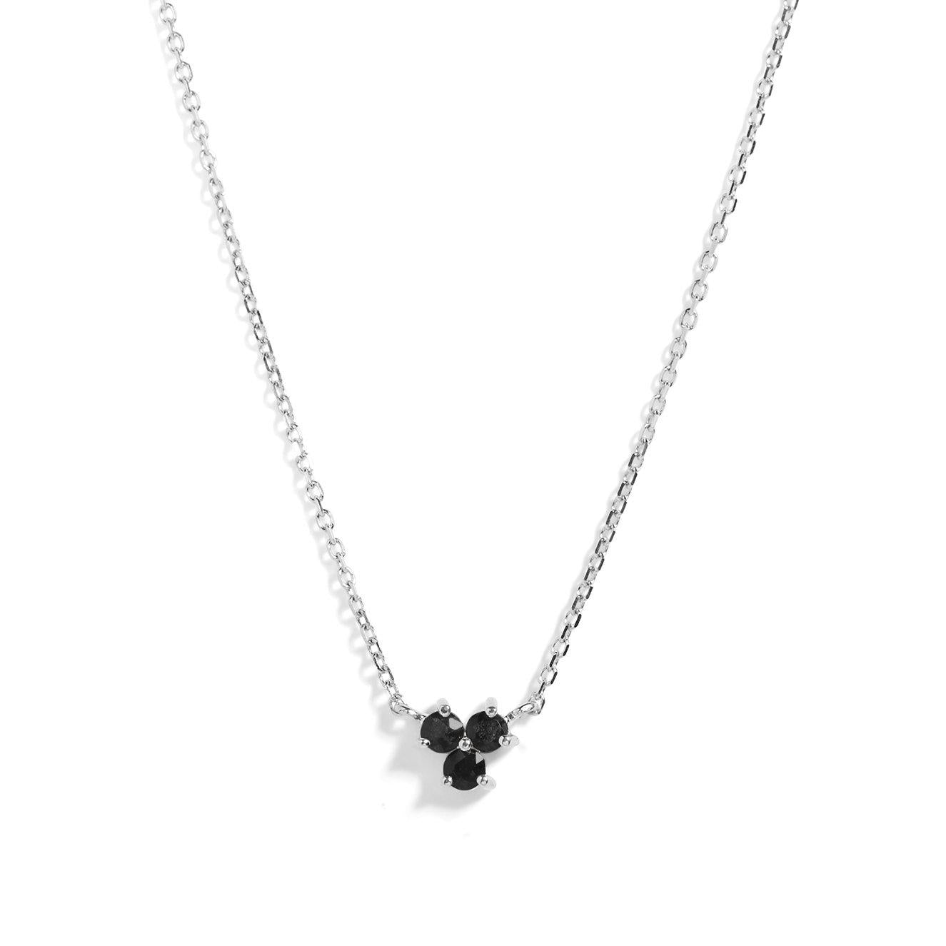 The Trio Spinel Necklace in Silver