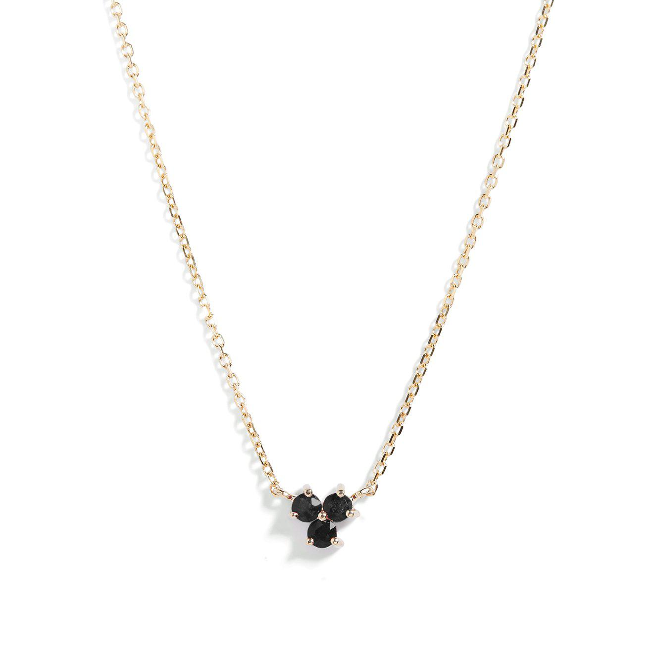 The Trio Spinel Necklace in 9kt Gold
