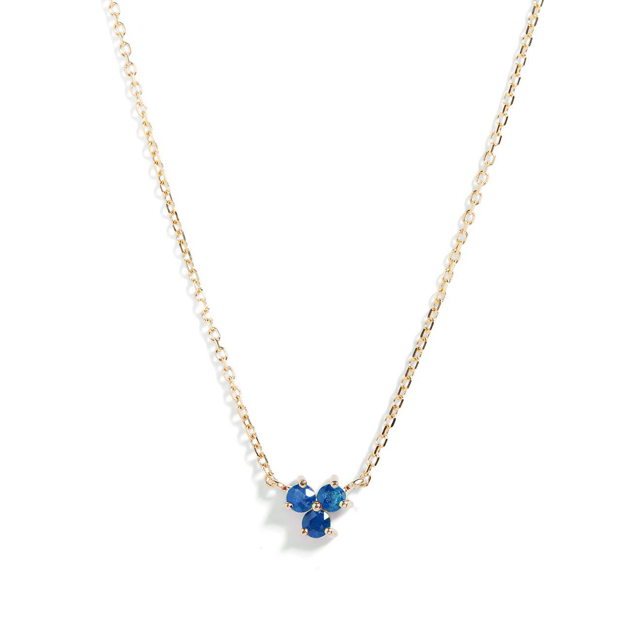 The Trio Tanzanite Necklace in 9kt Gold