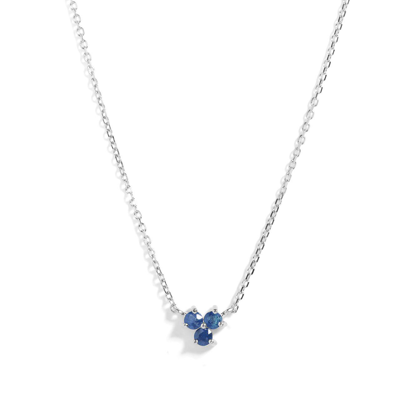 The Trio Tanzanite Necklace in Silver