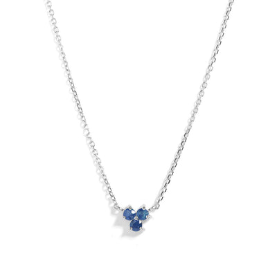The Trio Tanzanite Necklace in Silver-Necklace-Black Betty Design