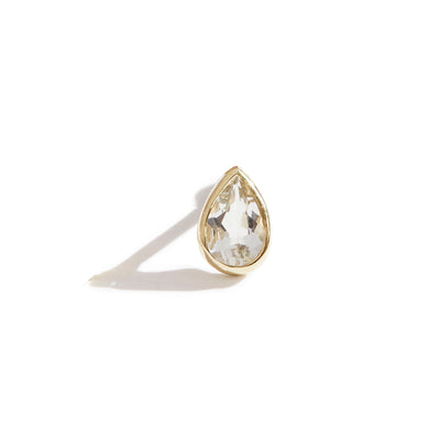 The 6x4 Pear Cut Stone Stud in 9kt Yellow Gold-Earrings-Black Betty Design