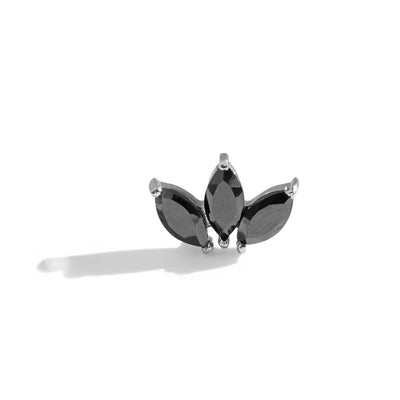 The Tri Spinel Marquise Stud in 9kt White Gold