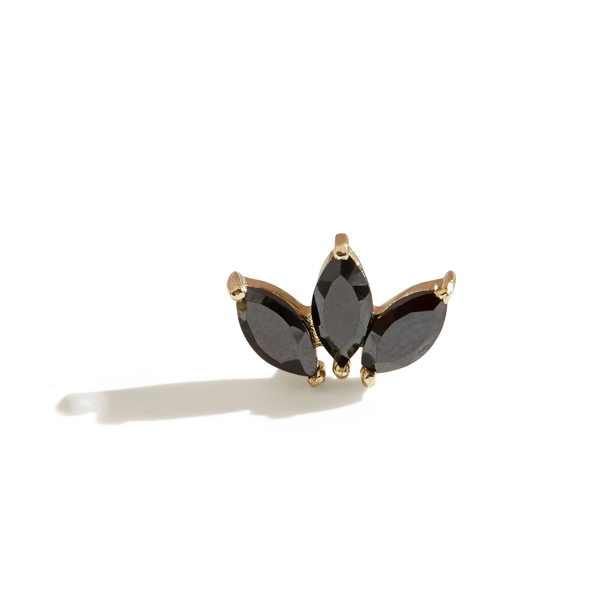 The Tri Spinel Marquise Stud in 9kt Gold
