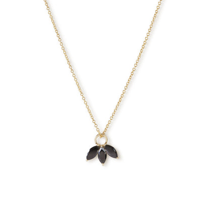 The Tri Spinel Marquise Necklace in 9kt Yellow Gold