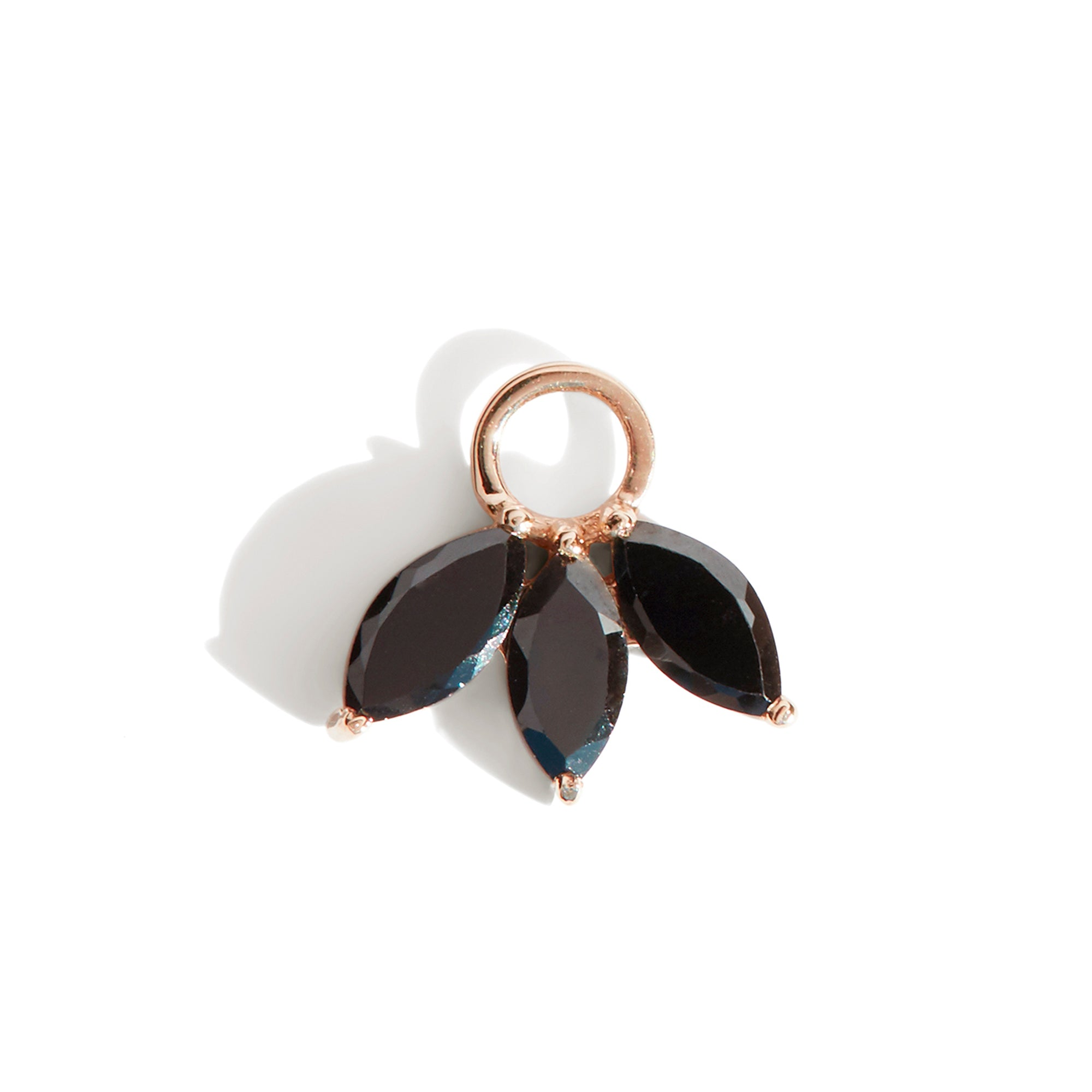 The Tri Spinel Marquise Charm in 9kt Rose Gold