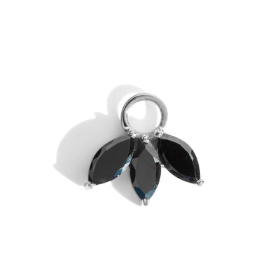 The Tri Spinel Marquise Charm in Silver-Pendant-Black Betty Design