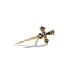 The Stoned Dagger Stud in 9kt Gold-Earrings-Black Betty Design