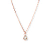 The 6x4 Pear Cut Stone Necklace in White Topaz & Rose Gold