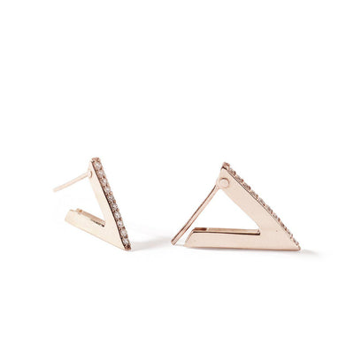 The Rose Diamond Triangle Earrings