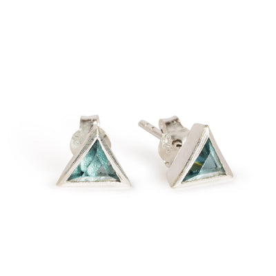 THE SUMMER TRIANGULAR STUDS IN SILVER-Black Betty Jewellery Design, South Africa