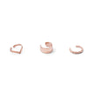 9kt Rose Gold Broad Cuff-Earrings-Black Betty Design