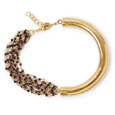 Black & Gold Chained bracelet