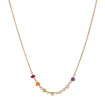 The Gold Plated Chakra Necklace-Necklace-Black Betty Design