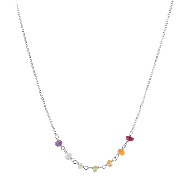 The Chakra Necklace in Silver