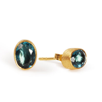 The Oval Stone Studs-Black Betty Jewellery Design, South Africa