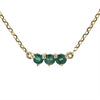 The Little Tri Emerald Choker in 9kt Gold