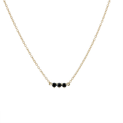 The Little Tri Spinel Choker in 9kt Gold