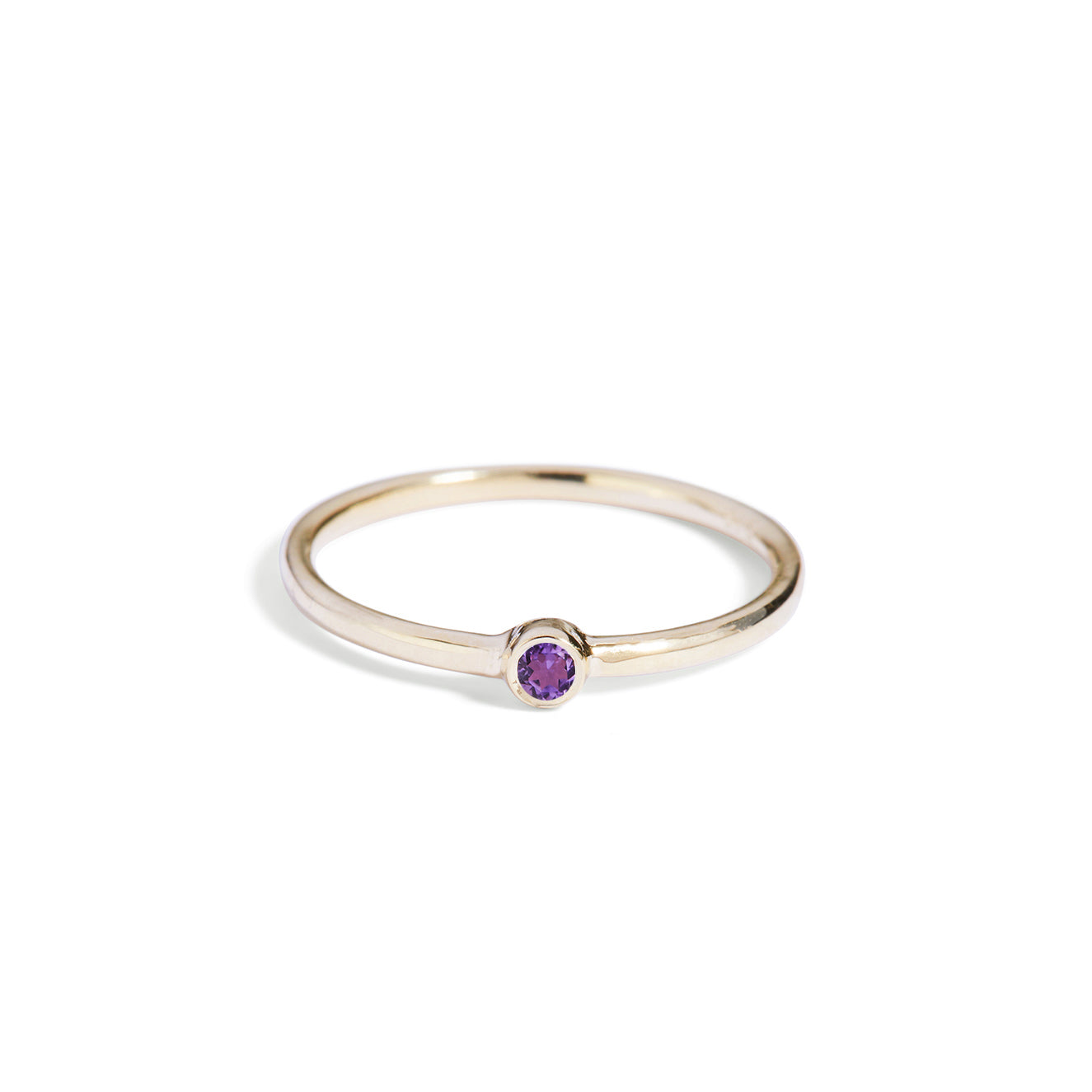 The Mini Amethyst Stacker in 9kt Gold-Black Betty Jewellery Design, South Africa