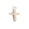 The Faith Cross Charm in Yellow Gold-Pendant-Black Betty Design