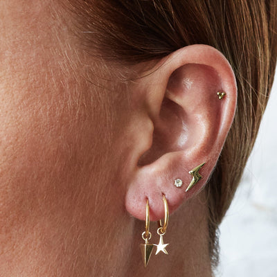 The Mini Prong Set Stone Stud in 9kt Rose Gold