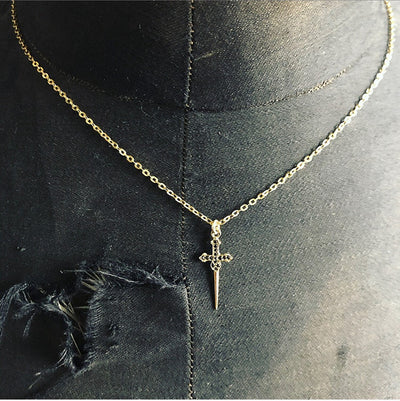 The Stoned Dagger Charm in 9kt Gold-Pendant-Black Betty Design