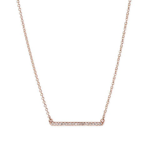The Diamond Bar Necklace