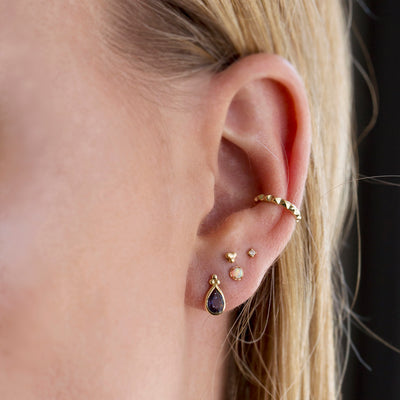The 9kt Gold Faceted Ear Cuff-Earrings-Black Betty Design