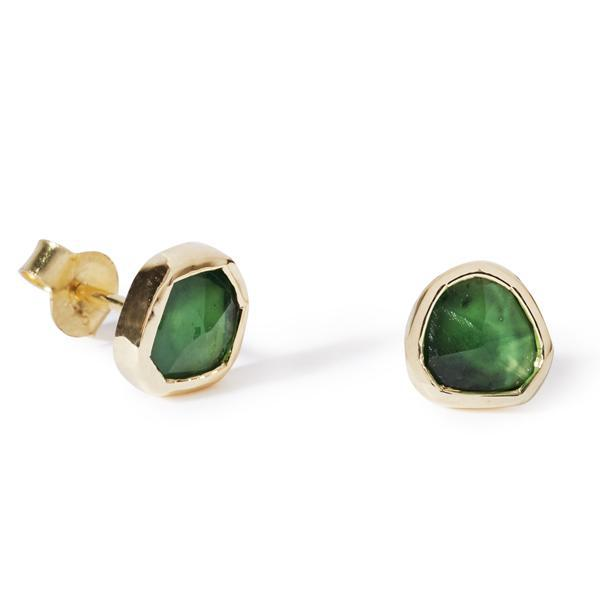 Raw Emerald Studs-Earrings-Black Betty Design