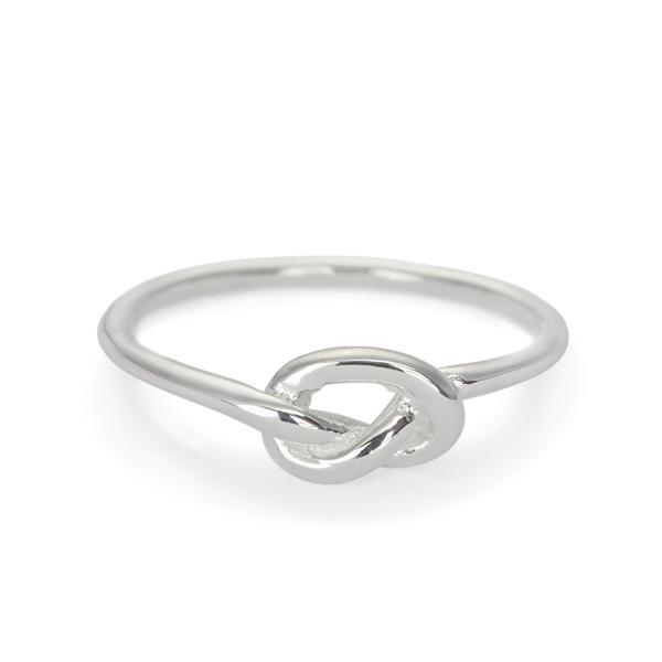 The Single Knot Ring in Silver
