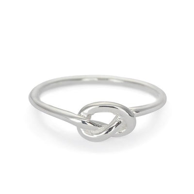 The Single Knot Ring in Silver-Ring-Black Betty Design