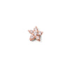 The White Sapphire Flower Stud in 9kt Rose Gold-Black Betty Jewellery Design, South Africa
