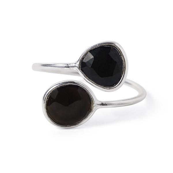 The Gemini Ring in Silver-Ring-Black Betty Design