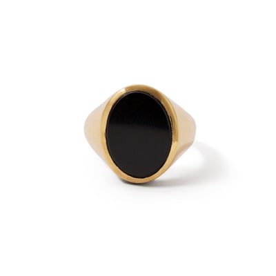 The Black Onyx Oval Signet Ring