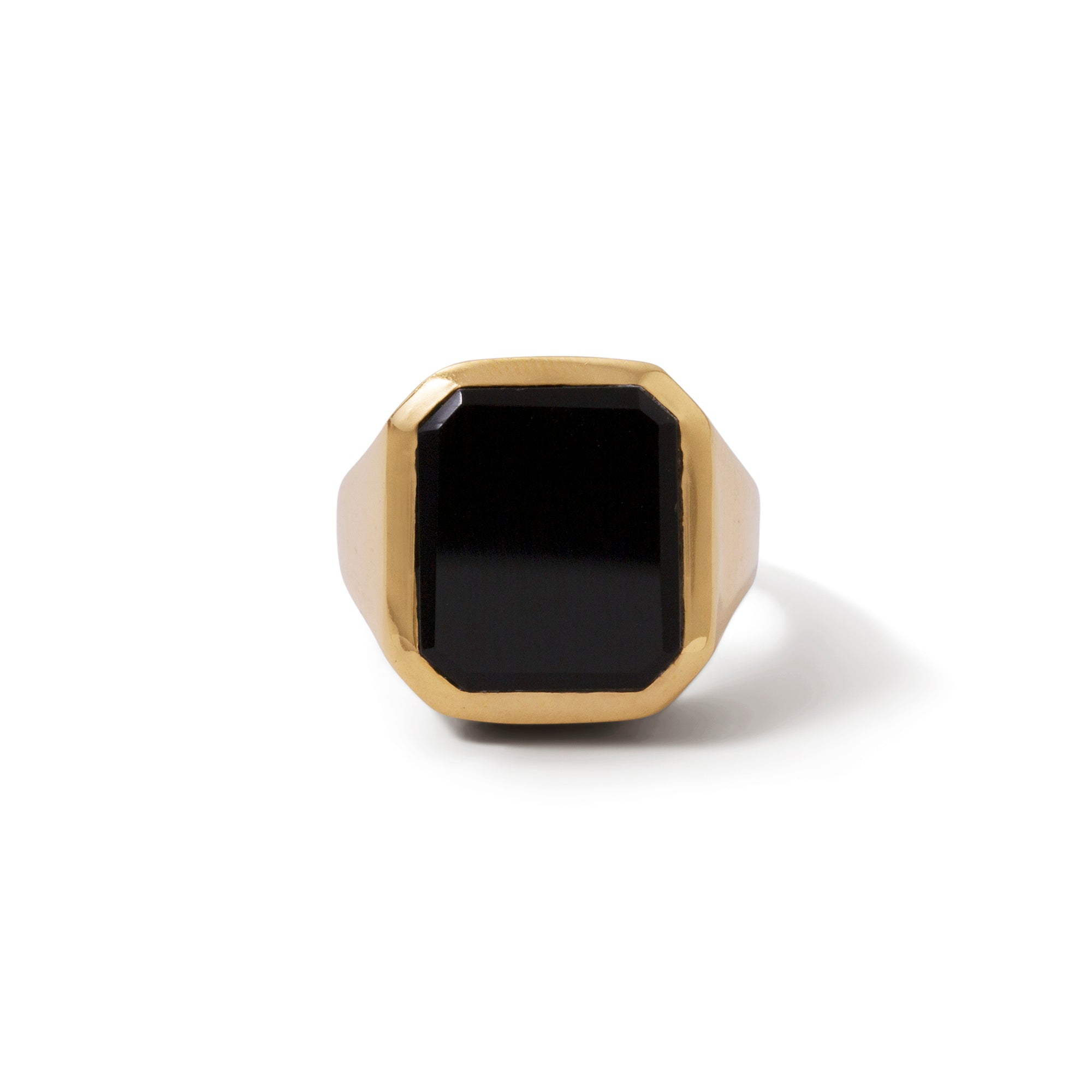 The Black Onyx Rectangle Signet Ring-Ring-Black Betty Design