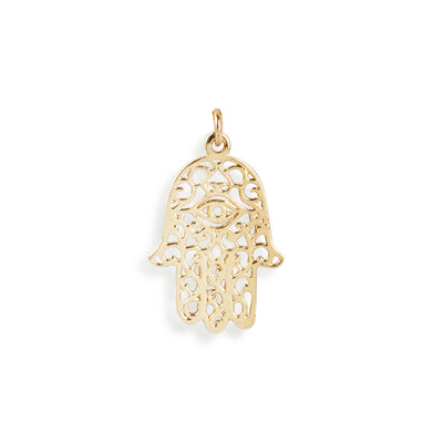 The Gold Hamsa Hand Charm-Pendant-Black Betty Design