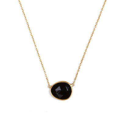 The Faceted Gemstone Necklace-Necklace-Black Betty Design