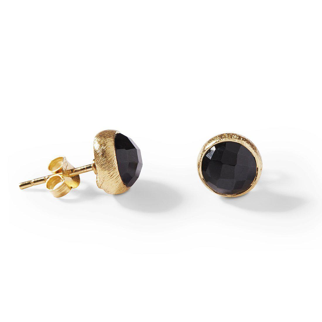 The Stone Studs-Earrings-Black Betty Design