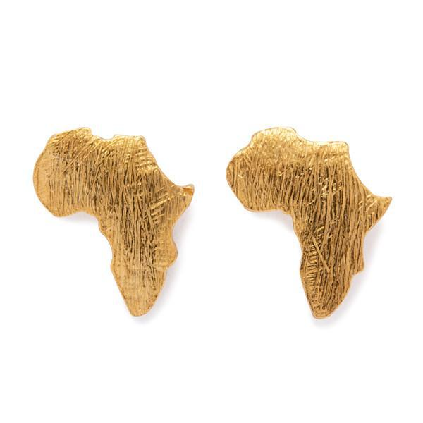 THE GOLD AFRICAN STUD EARRINGS