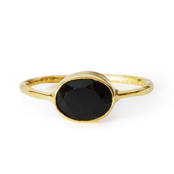 The Oval Stone Ring-Ring-Black Betty Design