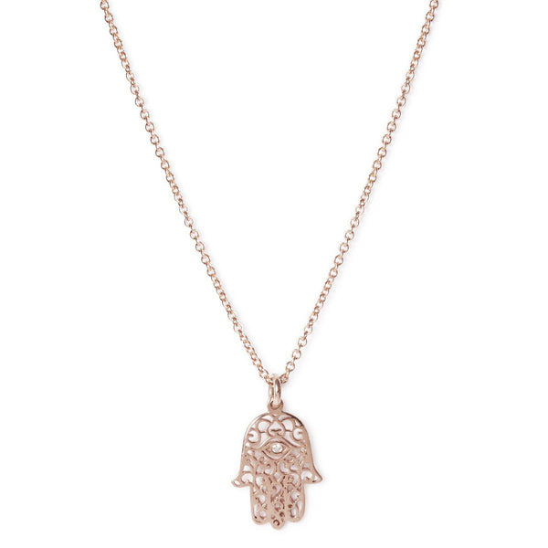 The Diamond Hamsa Necklace