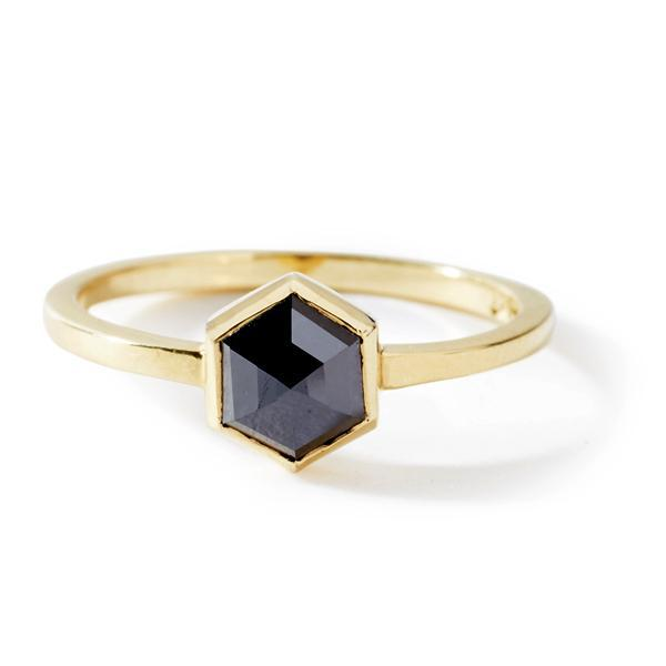 The Black Hexagon Diamond Ring