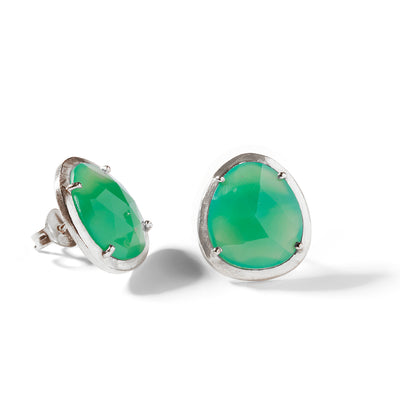 The Maia Studs in Silver-Earrings-Black Betty Design